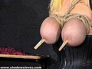 busty blonde cherrys breast bondage and amateur bdsm.