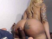 busty black tattooed milf cum on her huge ass