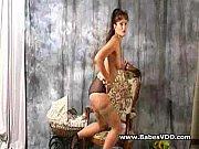 Buxom brunette seducing