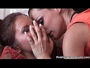 hot brunette lesbians get horny making