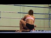 pussy loving babe enjoys naked wrestling