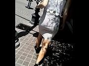 skinny girl in white skirt