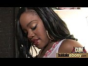 Dirty Ebony Whore Banged And Covered In Cum - Interracial 15