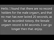 new orgasm record
