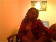 ebony having fun at cam -.