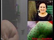 espiando a mi t&iacute_a despu&eacute_s de la ducha.