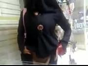 muslim hijab woman show hairy pussy public flash.
