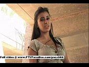 Alexa Loren dildoing &amp_ squirting in public