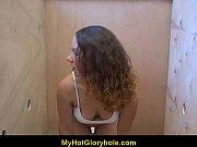 hot girl blows a stranger in a bathroom.