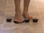 Foot Fetish - Sexy feet crushing chocolate cupcakes