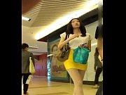 【絲襪美腿】橙色包臀裙纖細長腿美女 - YouTube (720p)