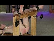 leila rides the bondage bench pt..