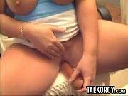 chubby and busty slut masturbating