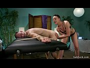 dominant masseuse spanks and fucks client