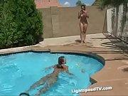 Lightspeed girls having fun in the pool