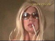 sexy girl smoking bj and masturbates