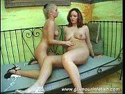 Glamorous babes touching tits