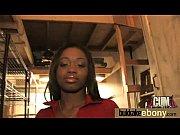 Hot ebony chick in interracial gangbang 4