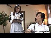 asian maid sucking a cock then gets a facial