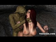 foxy 3d cartoon redhead gets fucked by a goblin