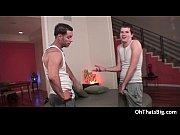 dude gets hurt swallowing some big fat gay porno