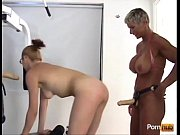 muscular mature bitch hard strapon fuck.