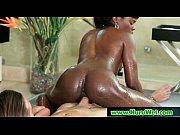 horny slut gives oil nuru massage.