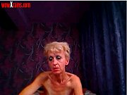 ugly granny poses for cam and.