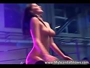 dirty brunette skank is stripping