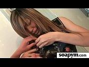 Грудастая секретарша со спермой на сиськах