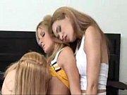 2 lesbian milfs seduce a teen cheerleader into.