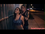 Stranded teen roughfucked doggystyle