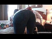 Busty ginger hottie shows her huge round