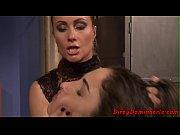 Lezdom MILF humiliates her restrained sub