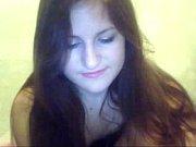 pretty girl showing nice body on webcam -.