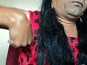 girl shaving armpits hair by straight.