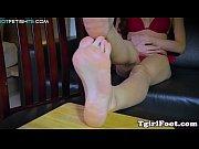 foot teasing ladyboy curling her nice.