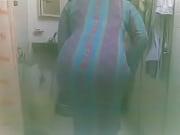 muslim wife in bathroom