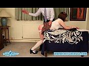 brunette crossdresser hard ass spanking