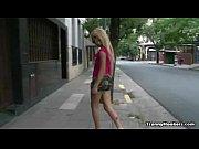 Blonde Tranny hooker pleasing her client