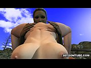 foxy 3d lesbian babe gets licked while on.