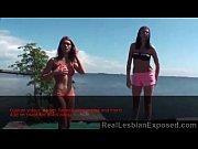 Teen Lesbian Threesome Outdoors