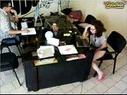 Девушки показуют трусики в офисе