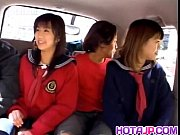 Airin Okui and chick in school uniform suck boners