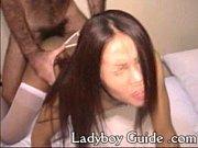 nestled thai ladyboy buggered in white.