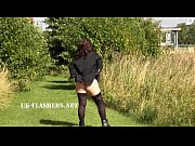 Chubby Andreas public nudity and naughty mum flashing outdoors with british amat