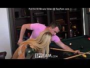 SpyFam Blonde stepmom Laura Bentley fucks stepson on pool table
