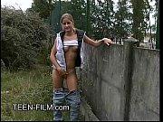 blond teen Nude in public