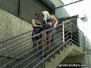 Wild Lesbians having sex on a street