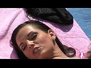 Viv Thomas Lesbian HD - Stunning hot brunettes having sex on a sun chair